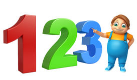 Kid boy with 123 sign. 3d rendered illustration of kid boy with 123 sign Royalty Free Stock Photo