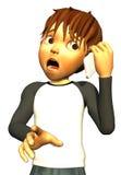 Kid boy teen human bad news. The kid boy teen is having a very bad news stock illustration