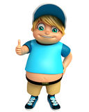Kid boy with with Thumbs up pose Stock Images
