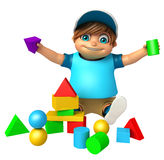 Kid boy with  Toy Royalty Free Stock Photos