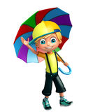 Kid boy with umbrella Royalty Free Stock Images