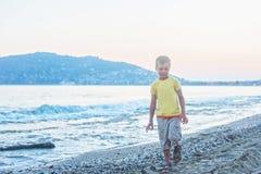 Kid boy walking Royalty Free Stock Image