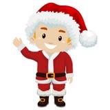 Kid Boy wearing Santa Claus Costume Stock Photos