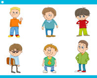 Kid boys characters cartoon set Stock Image
