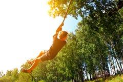 Free Kid Bungee Jumping Stock Photo - 47990830
