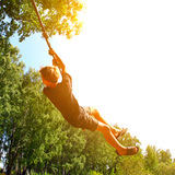 Kid Bungee jumping Royalty Free Stock Photos