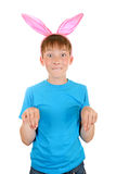 Kid with Bunny Ears Stock Photos