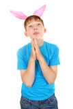 Kid with Bunny Ears Royalty Free Stock Photography