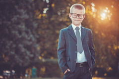 Kid businessman Stock Photography