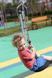 Kid at cableway Royalty Free Stock Photos