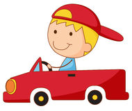 Kid in a car Royalty Free Stock Photos