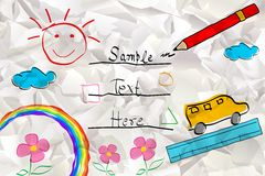 Kid Card Royalty Free Stock Images