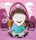 Kid cartoon Stock Image
