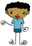 Kid cartoon 9 Royalty Free Stock Images