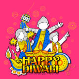 Kid celebrating happy Diwali Holiday doodle background for light festival of India. Illustration of kid celebrating happy Diwali Holiday doodle background for Stock Photos