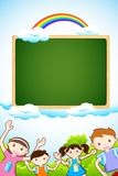Kid with Chalkboard Royalty Free Stock Images