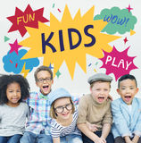 Kid Child Children Playful Childhood Concept.  royalty free stock photography