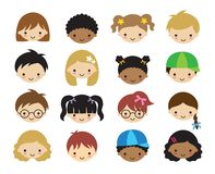 Kid Children Face Vector Illustration stock photography