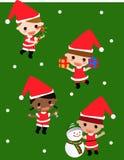 Kid and christmas Stock Photography