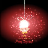 Kid with Christmas background and greeting card vector Stock Images