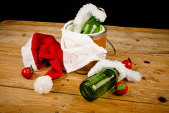 Kid  Christmas beverage Royalty Free Stock Photo