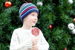 Kid at christmas Stock Image