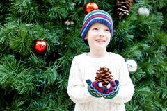 Kid at christmas Royalty Free Stock Images
