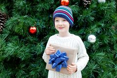 Kid at christmas Stock Photography