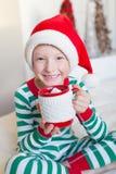 Kid at christmas Royalty Free Stock Images