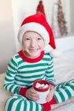 Kid at christmas Royalty Free Stock Image