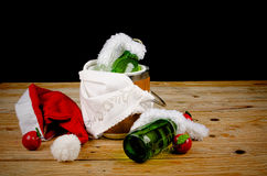 Kid  Christmas drinks Stock Photography
