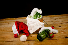 Kid  Christmas drinks Stock Images