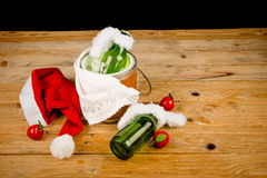Kid Christmas drinks Royalty Free Stock Photo