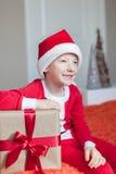 Kid at christmas Stock Photos