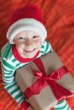 Kid at christmas Royalty Free Stock Photography