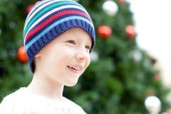 Kid at christmas Royalty Free Stock Photos