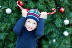 Kid at christmas Stock Photo
