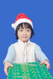 Kid with Christmas gift Royalty Free Stock Image