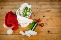 Kid  Christmas soda Stock Photography