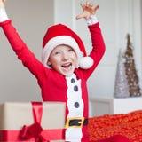 Kid at christmas time Royalty Free Stock Photo