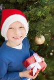 Kid at christmas time Stock Photo