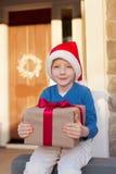 Kid at christmas time Stock Image