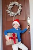 Kid at christmas time Stock Photography