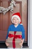 Kid at christmas time Stock Photos