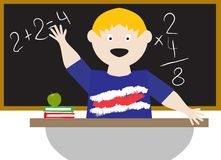 Kid in a classroom Stock Photo