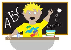 Kid in a classroom Royalty Free Stock Image