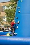 Kid climbing 3 Royalty Free Stock Image