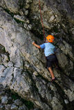 Kid climbing Royalty Free Stock Images