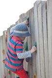 Kid climbing Stock Photo