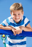 Kid climbing up Royalty Free Stock Photo